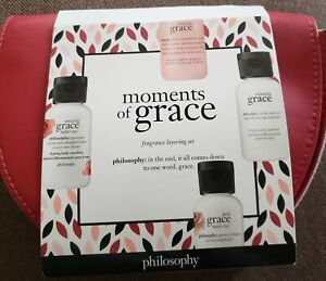 Philosophy Moments of Grace Fragrance Layering 4-Piece Set with Case Travel Size