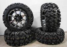 "STI HD6 14"" Wheels Machined 26"" Rip Saw Tires Polaris Ranger 900 XP"