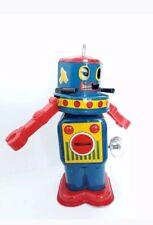 Vintage YONEZAWA tin Atomic Rotation Robot Mechanical Wind-up,1960's Japan-RARE