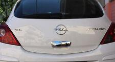 2007-2015 Vauxhall Opel Corsa D CROMATO MANIGLIA PORTA POSTERIORE COPERCHIO Trim in ACCIAIO S.