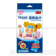 3M NEXCARE COOLING GEL PATCH FEVER KIDS BABY CHILDREN SIZE 6 PIECE