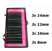 Mixed Size Mink Individual False Eyelashes Fake Lash Semi Permanent Extensions