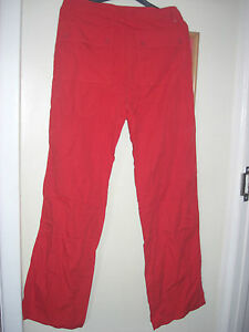BENETTON RED LIGHT COTTON TROUSERS SIZE SMALL