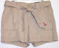 NWT St John's Bay Comfort Waist 100% Cotton Belted Shorts Biscotti Size 8P 10P