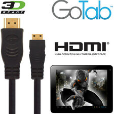 GoTab 7, 8, 10, GoNote 2 Android Tablet PC Mini HDMI a HDMI TV 5M Cavo Oro