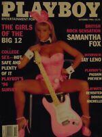 Playboy October 1996 Alternate Cover | Samantha Fox Nadine Chanz      #8358