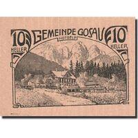 Monnayage de nécessité, Autriche, Gosau, 10 Heller, montagne, 1920 #267987