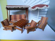Lundby, ensemble mobilier de jardin,  vintage en parfait état