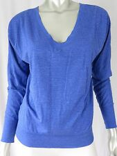 AMERICAN EAGLE OUTFITTERS SZ S/P Steel Blue & Silver Thread Top Blouse Shirt