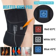 1/2Pcs Electric Knee Heated Pad Heating Therapy Wrap Brace Arthritis Pain Relief