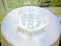 Full Lead Crystal 4 Candle Centerpiece Tray