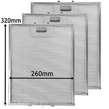 3 x  Mesh Filter Vent Filters for AEG BAUMATIC ZANUSSI Cooker Hood  320 x 260 mm