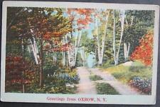 Greetings From Oxbow NY Unposted Linen