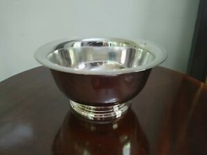 "Wallace Paul Revere Large Serving Bowl - Silver Plated - 9"" Diameter"