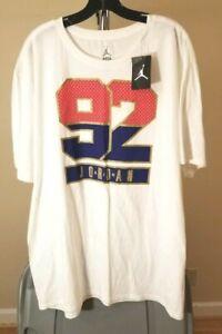 Air Jordan 92 Jordan Brand Classic White Air Jordan 92 3XL T-Shirt