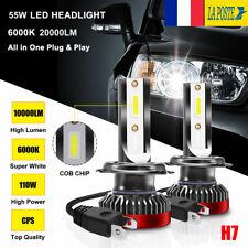 Paire 55W H7 20000LM Voiture LED Ampoules Phare Feux Lampe Kit 6000K Xenon Blanc
