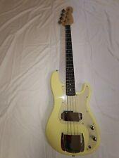 Basso Elettrico Precision Bass Panna 4 Corde Tiglio Acero Palissandro