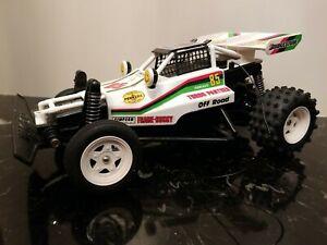 1986 Nikko White Turbo Panther Vintage R/C Frame Buggy- No Remote- Read