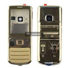 New Gold Metall Gehäusedeckel Fall für Nokia 6700 Classic 6700C + Tastatur