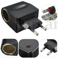 Cigarette Lighter Converter Adapter 220V AC Wall Power to DC 12V Car Kit EU Plug