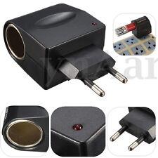 EU Plug LED 220V AC to 12V DC Car Cigarette Lighter Wall Power Adapter Converter