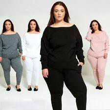 DIVADAMES Womens Plus Size Loose Fit Lounge Wear Tracksuit TS2235-PLUS