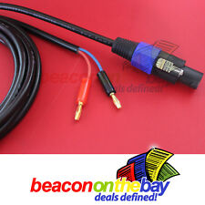 Australian Made Speakon to Banana 10M  30FT Cable THICKEST 13 Gauge 2.5mm² Lead