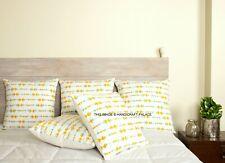 "Indian Cotton Decorative 16x16"" Cushion Cover Throw Hand Block Print Pillow Case"
