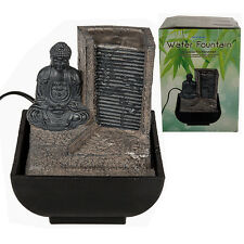 INDOOR TABLE BUDDHA WATER FOUNTAIN DESKTOP FEATURE CALMING DECORATION NEW 17CM