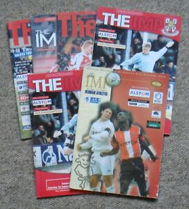 6 Lincoln City Home Football Programmes – 1998-2001 – All Listed