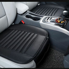 Durable Black Auto Car PU Leather Seat Cover Cushion Bamboo Charcoal Breathable