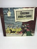 RCA Victor Christmas Hymns and Carols Record Set Red Seal Records + Sleeve USA