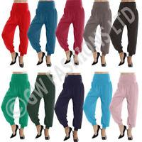 LADIES FULL LENGTH HAREEM ALI BABA PANTS WOMEN BAGGYTROUSERS HAREM LEGGINGS 8-26