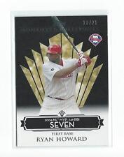 2008 Topps Moments and Milestones Black #28 Ryan Howard 7 RBI Phillies /25