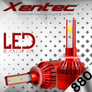 880 881 H27 6000K HID White 388W 38800LM LED Foglight Fog Light Conversion Kit