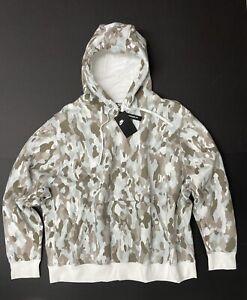 Nike Sportswear Club Camo Hoodie Fleece Pullover Tan Beige White Unisex Size 4XL