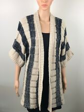 Just Jeans Short Sleeve Long Vest Coat Wrap Cardigan Size XS