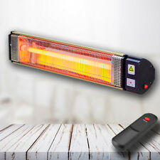 Outdoor Electric Infrared Patio Heater Quartz Tube 2.0kW Wall mounted + Remote