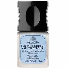 Alessandro Professional Manicure - Pro White Glitter Nail Effect Polish 10ml