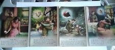 Postcards song cards - Blue Bell - 1,2,3 & 4 - Bamforth & Co - unposted xx