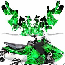 Sled Wrap for Polaris AXYS RUSH Pro S Graphic Snow Decal Kit Snowmobile ICE GREN