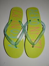 Aero NY-87 Women's Neon Green Rubber Flip Flops  Size: 10 NWOB