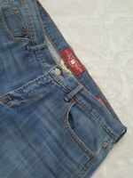 Lucky Brand Jeans Sweet Crop Capris Distressed Stretch Size 10/30