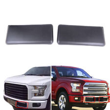For 09-14 Ford F150 Front Bumper Guards Pads Caps Inserts Left+Right Black Parts