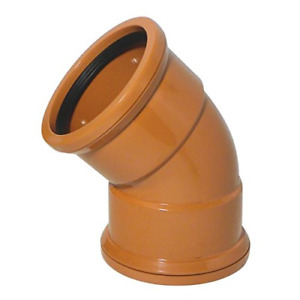 """Double Socket Pipe 45 DEGREE Elbow 4""""/110mm for Underground Sewer Pipes Drainage"""