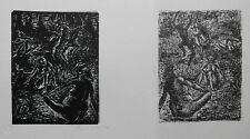 Fritz Cremer: Hexentanzplatz I, Linolschnitt u. Lithografie