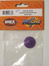 IMEX RC-ONE #9736 PURPLE ALUMINUM CIRCLE SERVO ARM for FUTABA Servos
