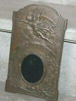 """Ancien cadre en bronze """" Pro Patria"""" signé fumière et cie a Paris"""
