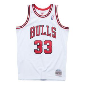 Men's Scottie Pippen Chicago Home White Swingman Jersey Mitchell & Ness