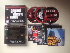 GRAND THEFT AUTO EDIZIONE PER COLLEZIONISTI RARA PS1 Playstation One-UK Venditore in buonissima condizione